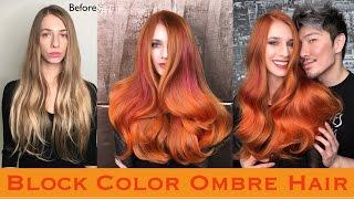 getlinkyoutube.com-Block Color Ombre Hair
