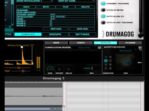 Drumagog 5 Platinum Morph|Engine and Convolution Reverb