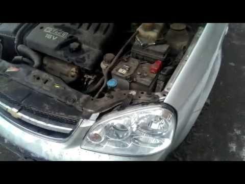 Замена лампы ближнего света фар Chevrolet Lacetti