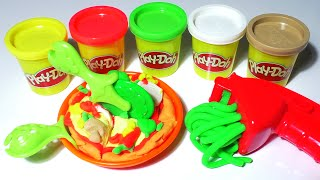 getlinkyoutube.com-Play-Doh PIZZA Food Playdough Cooking Games Kitchen PlaySet Doh Food Kids Fun Toys