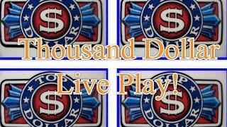 getlinkyoutube.com-One Thousand Dollars- LIVE PLAY-$25 Top Dollar Slot Machine