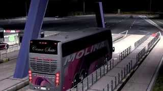 Euro Truck Simulator 2 Bus trip to Rabat with Busscar Panoramico DD part1