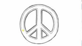 getlinkyoutube.com-How to Draw PEACE Sign - Cool Things to Draw