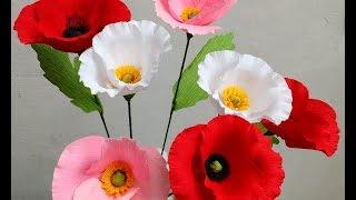 getlinkyoutube.com-Paper Flowers Poppy (Flower # 80)