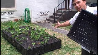 getlinkyoutube.com-How to Build a FREE Plastic Crate Raised Bed Garden