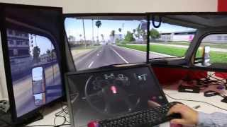 getlinkyoutube.com-American Truck Simulator - Custom 4-monitor (3+1) Test