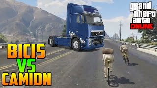 getlinkyoutube.com-AYAYAY! EL FINAL TENSO! BICIS VS CAMIONES! - Gameplay GTA 5 Online Funny Moments (Carrera GTA V PS4)