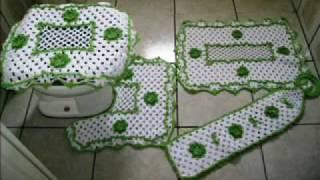 getlinkyoutube.com-Tapetes de crochê em vários modelos - Tapetes & Cia
