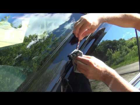 Как установить ветровики на окна боковых дверей автомобиля. Дефлекторы стекол Вингуру на машину