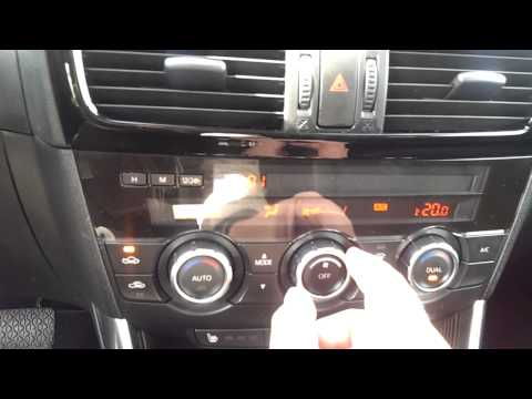 Mazda CX-5 interior review, блок климат-контроля