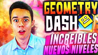 getlinkyoutube.com-Geometry Dash! INCREIBLES NUEVOS NIVELES!! #32 - TheGrefg