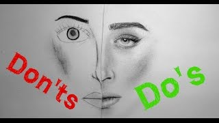 getlinkyoutube.com-Realistic Portrait Drawing: Do's & Don'ts