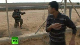 getlinkyoutube.com-Video: Scene of Gaza-Israel border shooting after IDF kills Palestinian