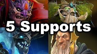 getlinkyoutube.com-5 Supports Team vs Megacreeps! - MSS Tree Merlini Lion Dota 2