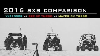 getlinkyoutube.com-2016 SXS Comparison | YXZ1000R vs RZR XP Turbo vs Maverick Turbo