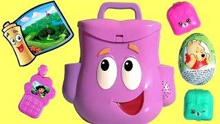 getlinkyoutube.com-Mochila Dora Aventureira com Ovos Surpresa Brasil | Dora the Explorer Talking Backpack Surprise Eggs