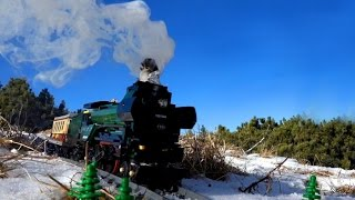 getlinkyoutube.com-Lego steam locomotive in the mountains