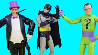 getlinkyoutube.com-Batman Classic Tv Series With To The Batcave Batman Riddler And Penguin With Collector Card