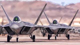 getlinkyoutube.com-F-22 Raptors At Red Flag 15-1 Nellis • Day & Night OPS