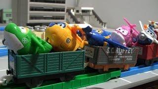 getlinkyoutube.com-슈퍼윙스 장난감 기차놀이 Super Wings Toys Train Play Brinquedos harika kanatlar Oyuncak