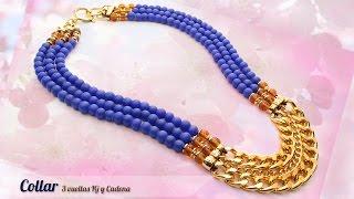 getlinkyoutube.com-Cómo hacer un Collar 3 vueltas IG y Cadena Kit: 3799  | VARIEDADES CAROL