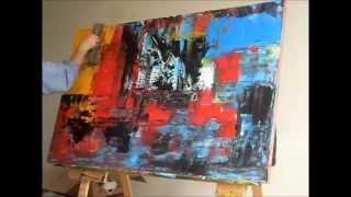 getlinkyoutube.com-Acrylmalerei Abstrakte Kunst