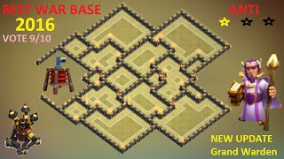 getlinkyoutube.com-Th9 Best War Base [ ANTI 2 STARS ] ANTI Gowipe , Hog ANTI Lava + Balloon 2016 - Clash of Clans