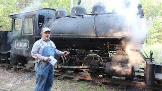 getlinkyoutube.com-Operating a Vulcan Iron Works 0-4-0T Steam Locomotive