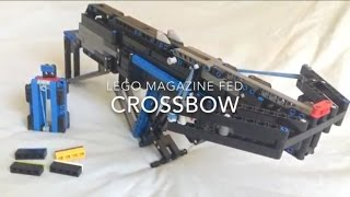 getlinkyoutube.com-{Working Lego Gun} Magazine Fed Crossbow