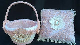 getlinkyoutube.com-Wedding Ring Cushion & Flower Girl's Basket -DIY Wedding Series Episode 3 for Gone Artsy