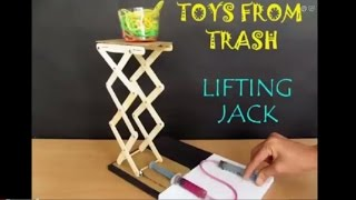 getlinkyoutube.com-LIFTING JACK - ENGLISH - Hydraulic Jack! from Ice Cream Sticks