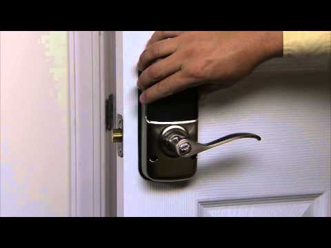 Yale Real Living Lever Lock Installation - Installing the Batteries 08