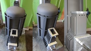 getlinkyoutube.com-Piec rakietowy ANDRZEJ V2 (1/2) koza holzgas rocket stove heater