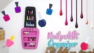 getlinkyoutube.com-nail polish organizer DIY - nail polish rack with cardboard box - decor crafts