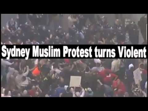 Sydney Muslim protest turns violent September 15, 2012