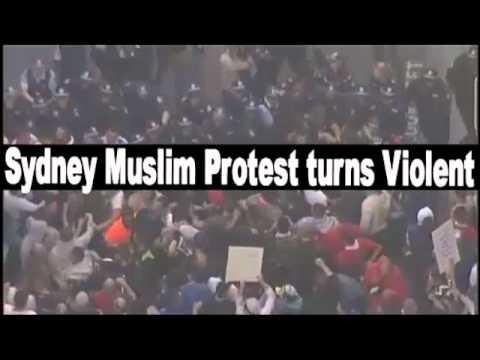 Sydney Muslim protest turns violent September 15, 2012
