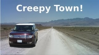 getlinkyoutube.com-Strange Creepy Town Near Area 51 - Semi Abandoned Town in Nevada Desert - The REAL Loneliest Road!