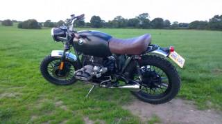 getlinkyoutube.com-BMW R45 R65 Airhead Boxer Scrambler Restoration in 2 minutes