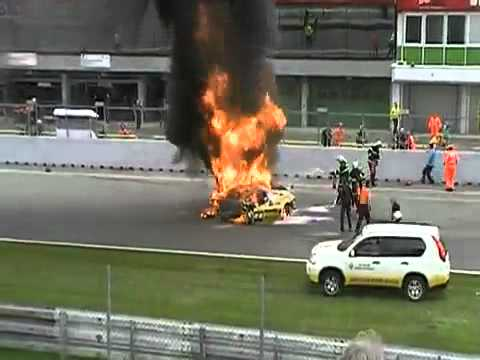Lamborghini Gallardo GT Accident ( Race at Brno )