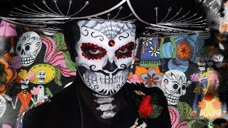 getlinkyoutube.com-Mariachi Sugar Skull - Makeup Tutorial!