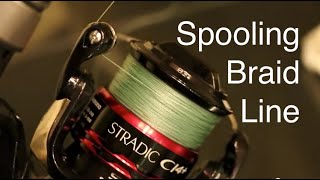 getlinkyoutube.com-How to Spool Braided Line on a Spinning Reel Without Line Twists or Loops