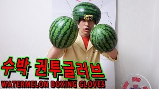 getlinkyoutube.com-수박으로 UFC권투글러브 만들어서 복싱하기 - 허팝 (Watermelon UFC Boxing Gloves)