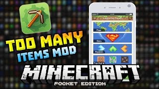 getlinkyoutube.com-TOO MANY ITEMS MOD in 0.13.0!!! - MCPE Master Update - Minecraft PE (Pocket Edition)