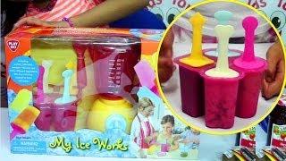 getlinkyoutube.com-PlayGo My Ice Works - Make Cookies and Cream, Fruit, Yogurt Ice Pops