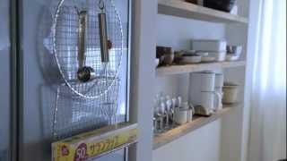 getlinkyoutube.com-100均グッズde収納アイデア_焼き網ラップホルダー | 99Cent DIY Storage Idea - Make a Foil/Cling Film Dispenser