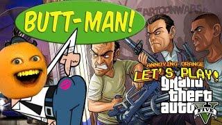 getlinkyoutube.com-Annoying Orange Plays - GTA V: Butt-Man!
