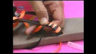 getlinkyoutube.com-Sandalias decoradas con Cintas