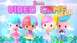 getlinkyoutube.com-Unbox Daily: Barbie Video Game Hero - Vinyl Figures - Doll Review - 4K