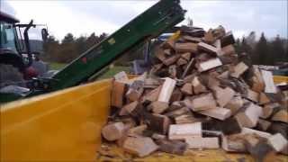 getlinkyoutube.com-Posch S-360 Firewood Processor Unedited Machinery Demo