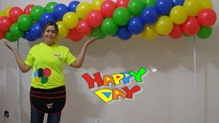 getlinkyoutube.com-arco de balões espiral com 4 cores  tema vingadores (guirlanda de balões 4 cores)